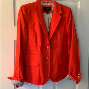 J. Crew schoolboy orange wool blazer. Size 8.